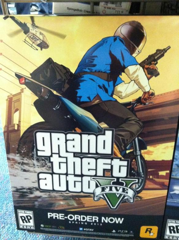 GTA V new artwork Gamestop