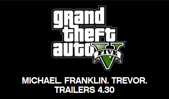 GTA V Trailers Coming April 30